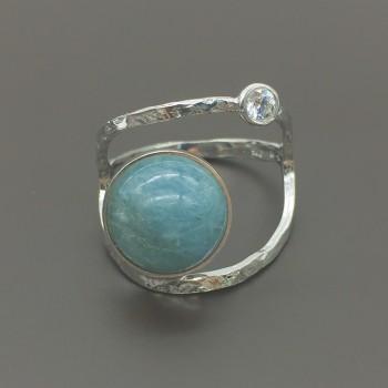 Ασημένιο δαχτυλίδι με αχάτη
