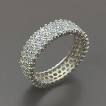 Λευκόχρυσο σειρές δαχτυλίδι 14Κ
