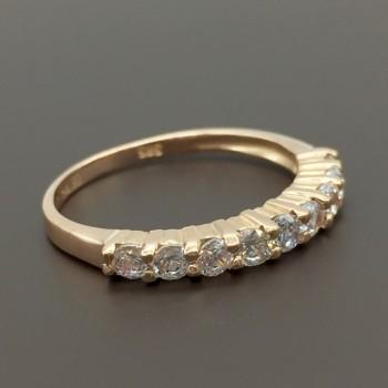 Ροζ χρυσό δαχτυλίδι σειρέ