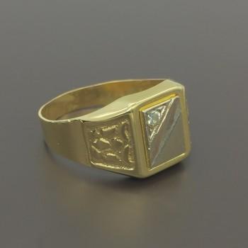 Χρυσό ανδρικό δαχτυλίδι 14Κ