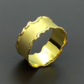 Χειροποίητο χρυσό δαχτυλίδι