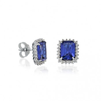 Σκουλαρίκια BOVO με μπλε ζιργκόν