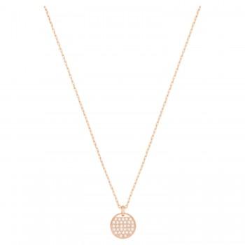 Swarovski Ginger Pendant, White Rose Gold Plating 5265913