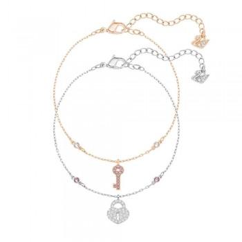 Swarovski Crystal Wishes Key Bracelet_Set, Pink 5272251