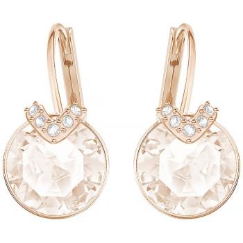 Swarovski Bella V Pierced Earrings, Pink, Rose Gold Platining 5299318