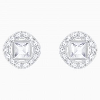 Angelic Square Pierced Earrings, White 5368146