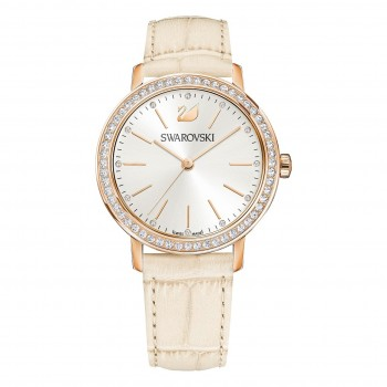 SWAROVSKI Graceful Lady, Leather Strap, Beige 5261502