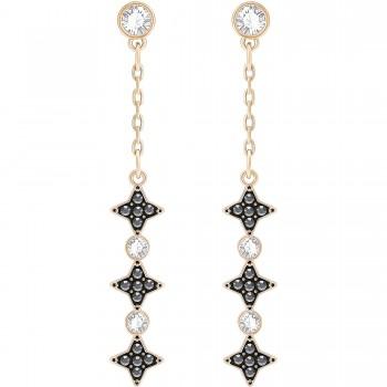 Swarovski Halve Rose Gold Plated Dropper Earrings 5360475