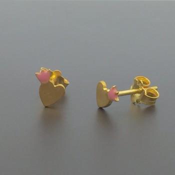 Χειροποίητα παιδικά σκουλαρίκια 14Κ