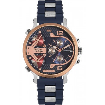 Lee Cooper Multifunction Blue Rubber Strap LC06368.599