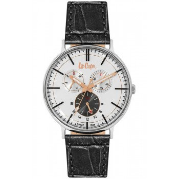 Lee Cooper Multifunction Black Leather Strap LC06383.331