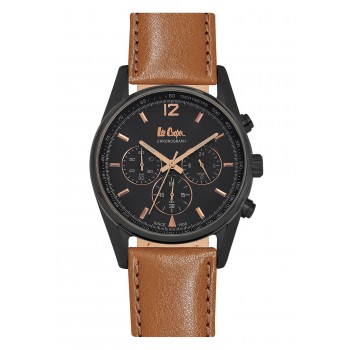 Lee Cooper Chronograph Brown Leather Strap LC06415-055