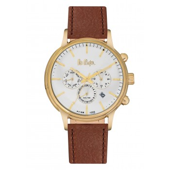 Lee Cooper Dual Time Brown Leather Strap LC06429.132