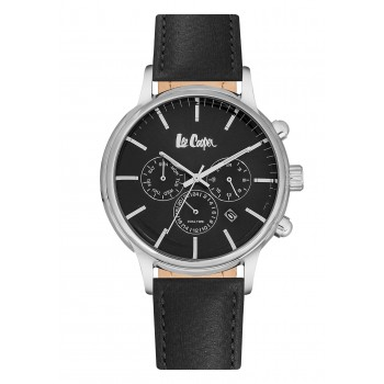 Lee Cooper Dual Time Black Leather Strap LC06429.351