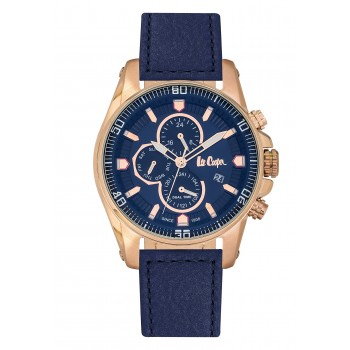 Lee Cooper Multifunction Blue Leather Strap LC06446.499