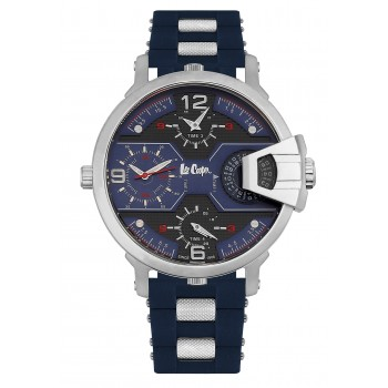Lee Cooper Multifunction Blue Rubber Strap LC06449.399