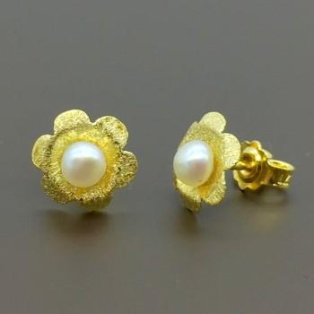 Χρυσά χειροποίητα σκουλαρίκια