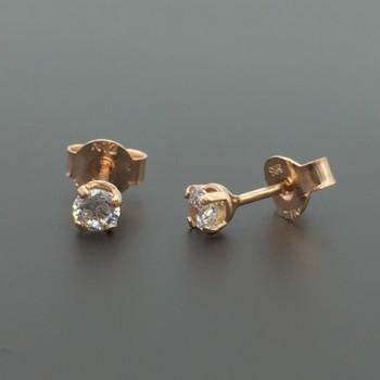Σκουλαρίκια ρόζ χρυσό