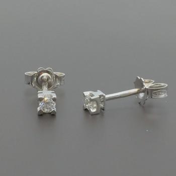 Σκουλαρίκια με μπριγιάν 18Κ