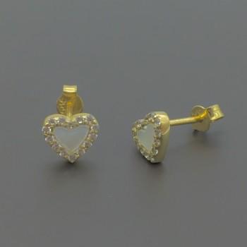 Χρυσά σκουλαρίκια με φίλντισι