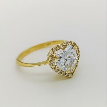 Χρυσό Δαχτυλίδι FaCaDoro καρδιά