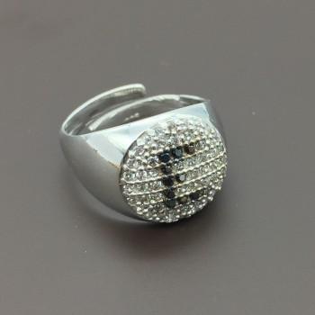 Ασημένιο δαχτυλίδι σεβαλιέ