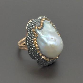 Ασημένιο δαχτυλίδι με μαργαριτάρι