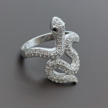 Ασημένιο δαχτυλίδι Φίδι