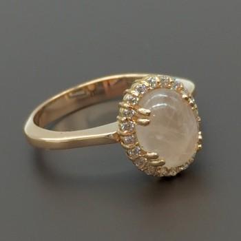 Δαχτυλίδι ροζ χρυσό με smoked quartz