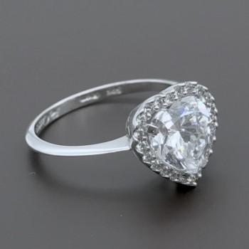 Λευκόχρυσο δαχτυλίδι FaCaDoro