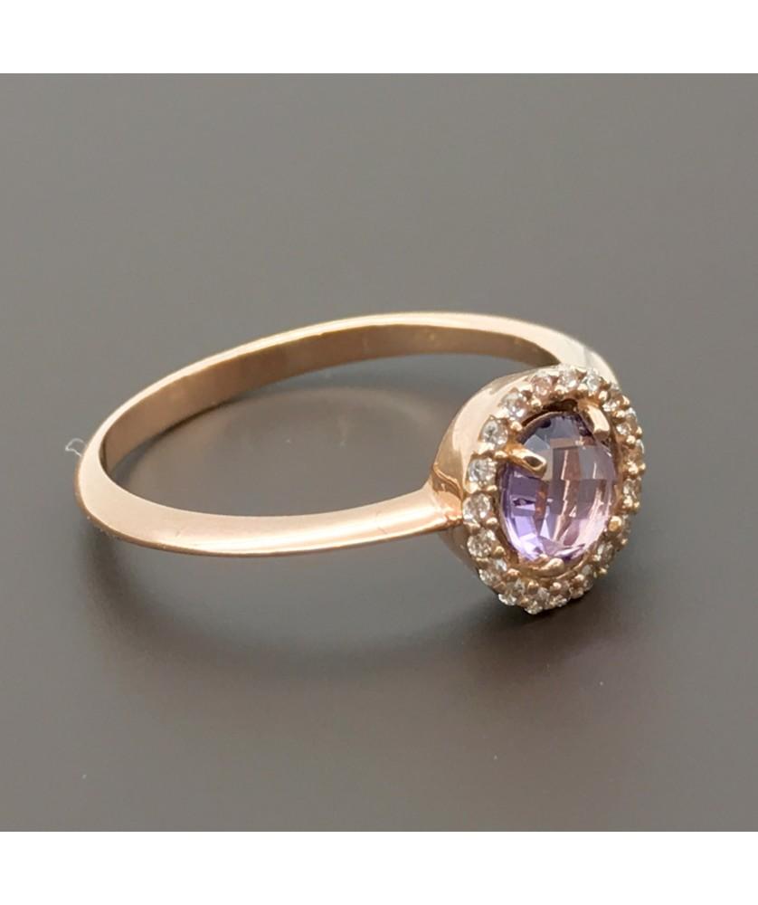 Δαχτυλίδι ροζ χρυσό με Ροζ Ζιργκόν 5d4ee9971e9