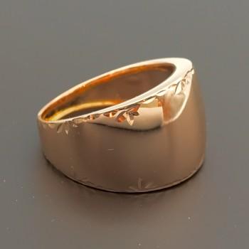 Δαχτυλίδι ροζ χρυσό 14Κ