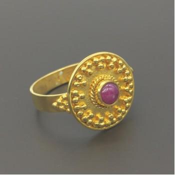 Βυζαντινό χειροποίητο δαχτυλίδι 18Κ