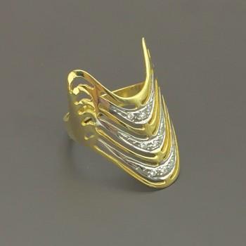 """Χρυσό δαχτυλίδι - σχέδιο """"Κλεοπάτρα"""""""