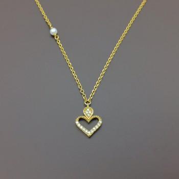 Χρυσό κολιέ καρδιά