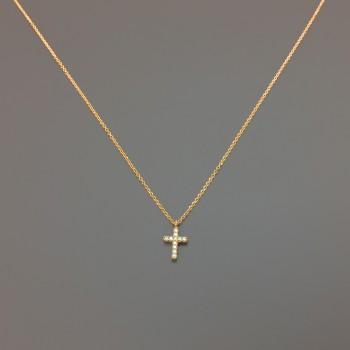Ροζ χρυσός σταυρός