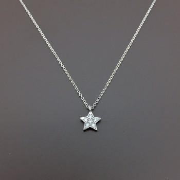 Λευκόχρυσο κολιέ αστέρι