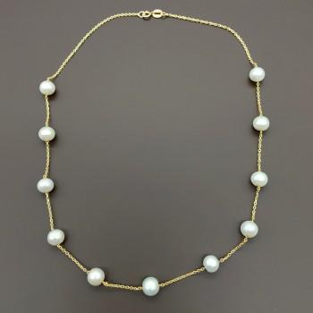 Χρυσά σκουλαρίκια με μαργαριτάρια