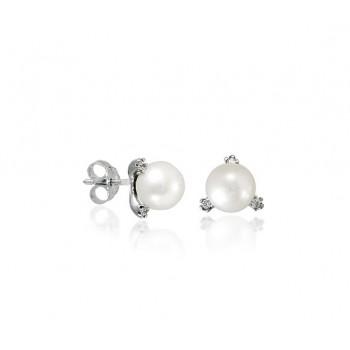 Σκουλαρίκια Fratelli Bovo με μαργαριτάρι