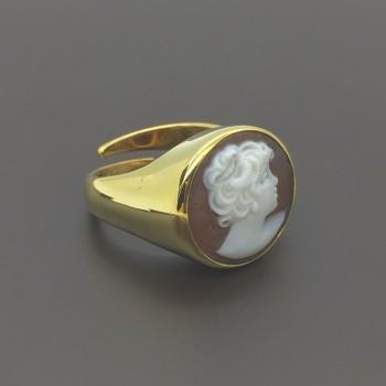 Χειροποίητο δαχτυλίδι Cameo