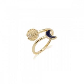 JCou Sun & Moon, Μπλε, JW901G0-02 JCOU δαχτυλίδια, κοσμήματα, ποικιλία σχεδίων, τιμές