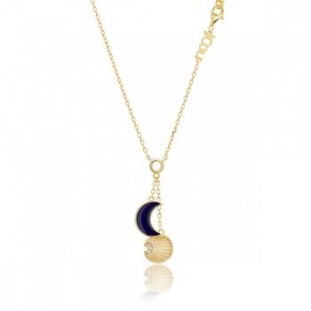 JCou Sun & Moon, Μπλε, JW901G1-02 JCOU κολιέ, κοσμήματα, ποικιλία σχεδίων, τιμές