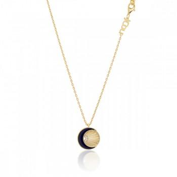 JCou Sun & Moon, Μπλε, JW901G1-03 JCOU κολιέ, κοσμήματα, ποικιλία σχεδίων, τιμές