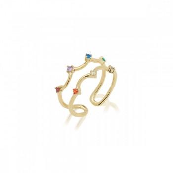 Jcou Rainbow, Πολύχρωμο, JW902G0-03 JCOU δαχτυλίδια, κοσμήματα, ποικιλία σχεδίων, τιμές