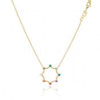 Jcou Rainbow, Πολύχρωμο, JW902G1-03 JCOU κολιέ, κοσμήματα, ποικιλία σχεδίων, τιμές