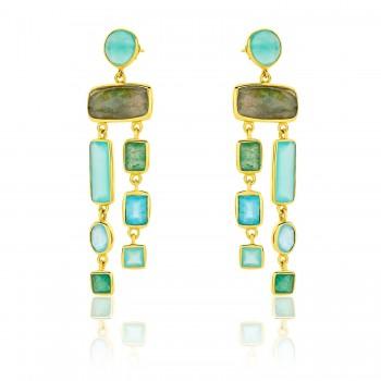 Σκουλαρίκια Li-LA-LO Iris, Μπλε, SAS006786 σκουλαρίκια Li-LA-LO, κοσμήματα, ποικιλία σχεδίων,τιμές
