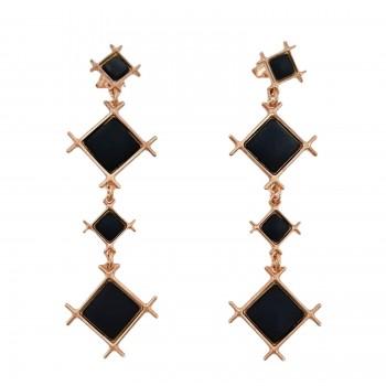 Σκουλαρίκια Li-LA-LO, Μαύρο, SAS006872 σκουλαρίκια Li-LA-LO, κοσμήματα, ποικιλία σχεδίων,τιμές