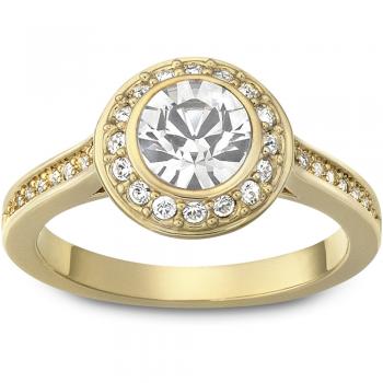 Swarovski Angelic Round, Λευκό, Επιχρυσωμένο, 1081946 δαχτυλίδι Swarovski, ποικιλία σχεδίων, τιμές, προσφορές