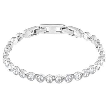 Swarovski Tennis, Λευκό, Επιροδιωμένο, 1791305 κοσμήματα, βραχιόλι Swarovski , τιμές, ποικιλία σχεδίων, προσφορές