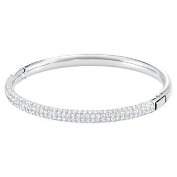Swarovski Stone Bangle, Λευκό, Ανοξείδωτο Ατσάλι, 5032846 κοσμήματα, βραχιόλι Swarovski , τιμές, ποικιλία σχεδίων, προσφορές